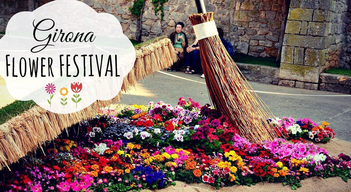фестиваль цветов в Жироне